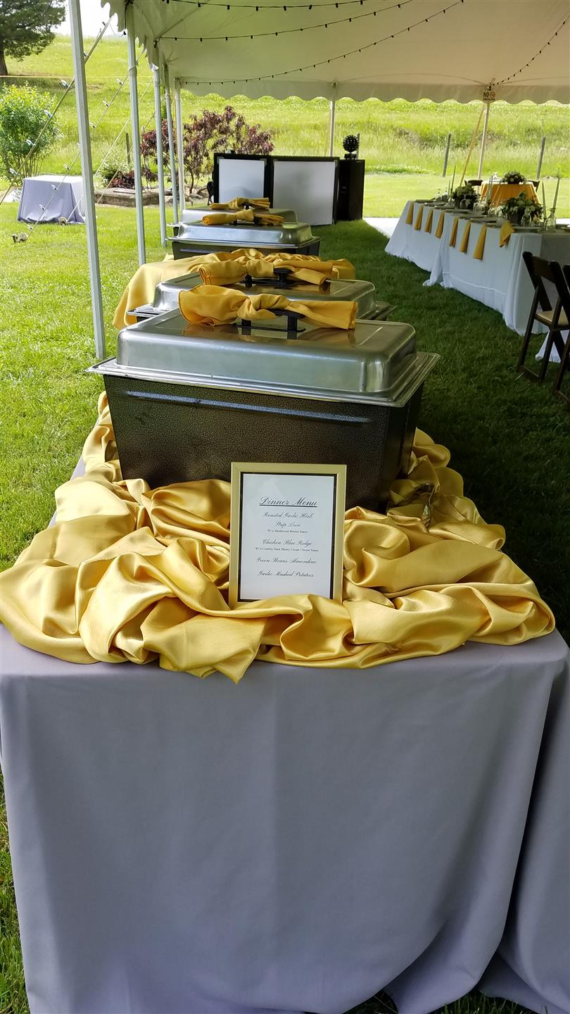 buffet table for an event