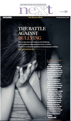 Article cover from Next, the buffalo news. The battle against bullying.
