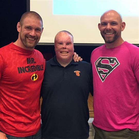 Tom murphy, rick yarosh, jason spector posing for photo