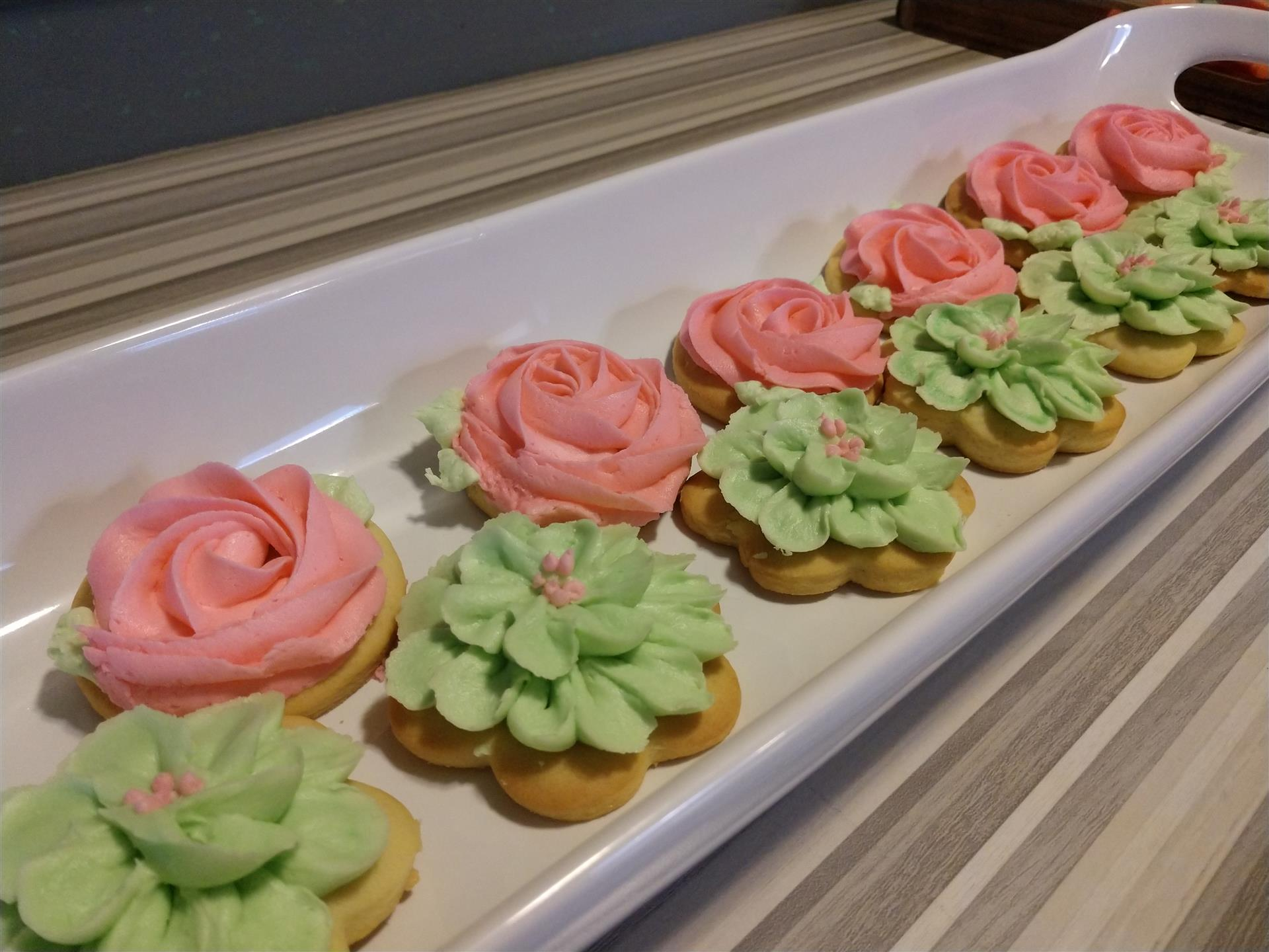 Flower cut out Cookies
