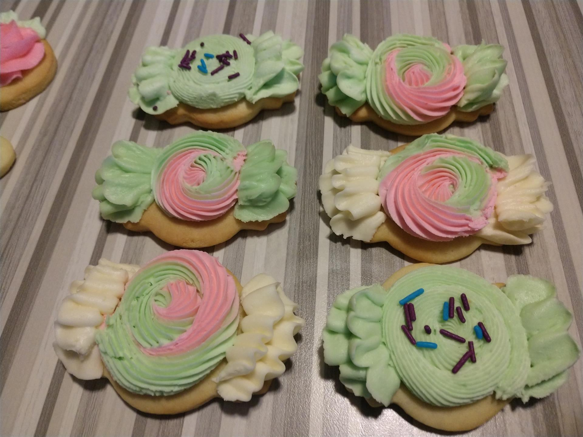 Candy Shaped Cut out cookies