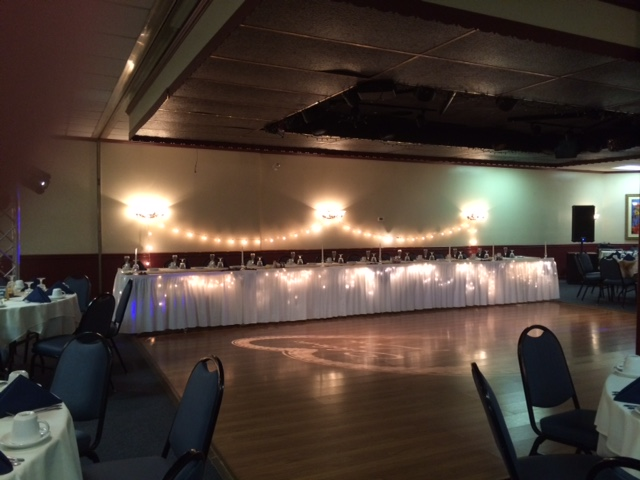 Dance area in a catering hall