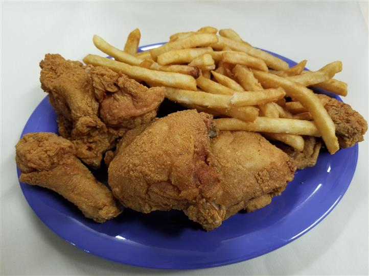Fried chicken and french fries