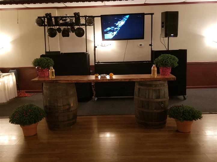 Dj area of catering hall