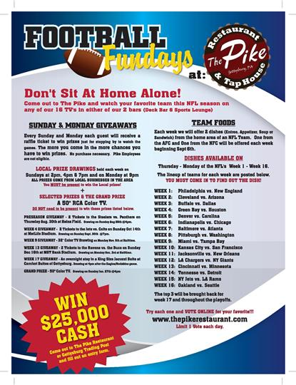 Football funday promotion