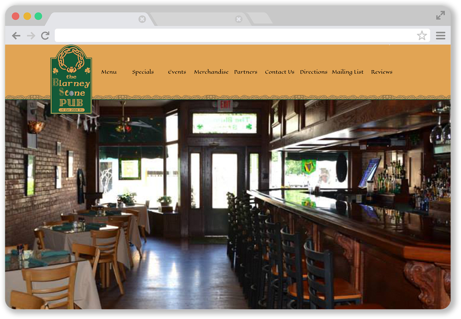 Screenshot of website in internet browser