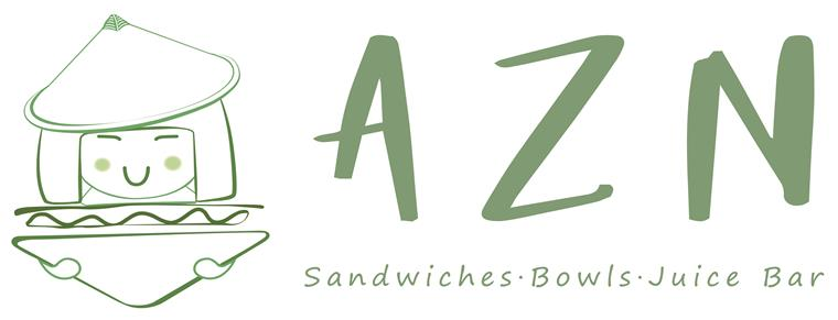 A Z N. Sandwiches, bowls, juice bar.