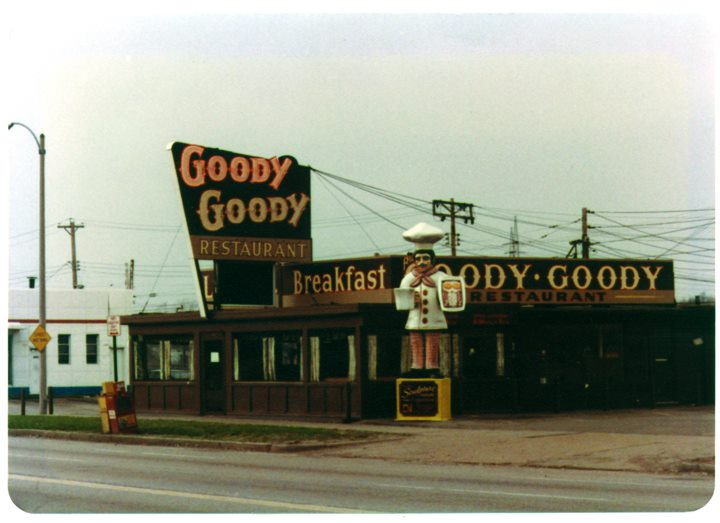 vintage photo of the outside of the business