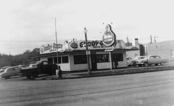 vintage photo of the outside of the building
