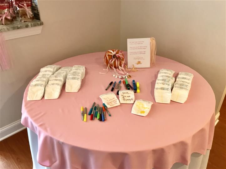 table at bridal shower