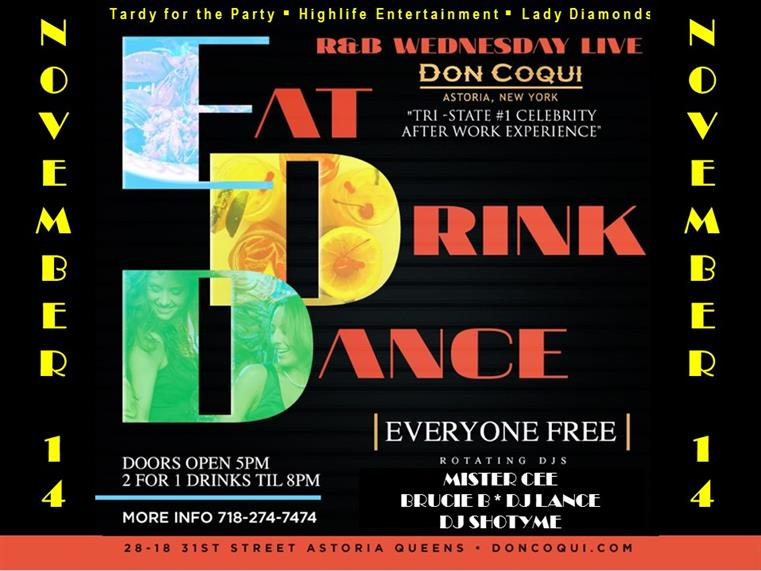 Eat Drink Dance event