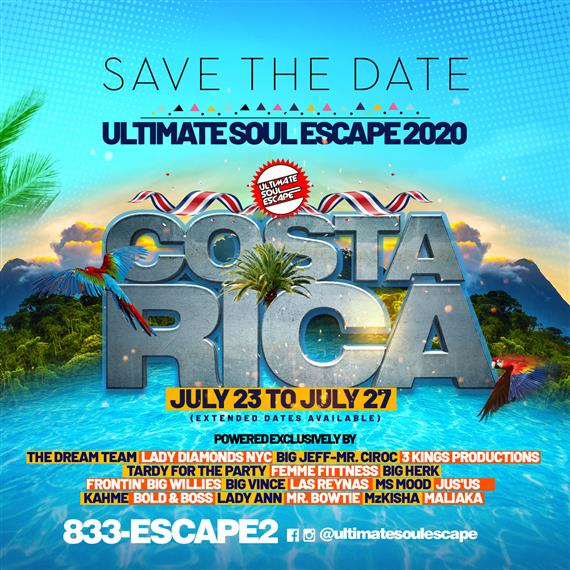 Save the date ultimate soup escape 2020 costa rica july 23-july 27th. 833-ESCAPE2