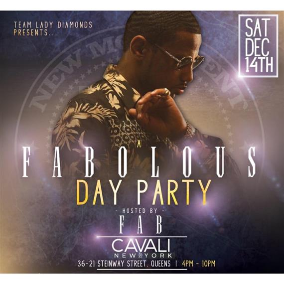 Team lady diamonds presents.. A fabolous party hosted by FAB cavali, NY 36-21 street, Queens, 4 pm - 10 pm. Sat Dec 14th.