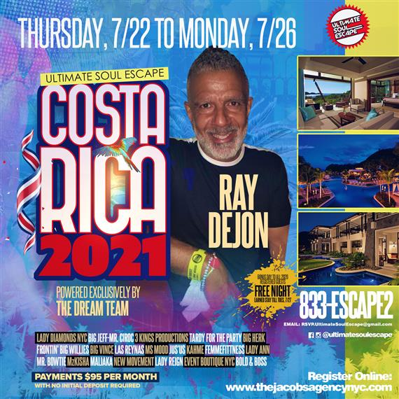 Costa rica all stars, powered by the dream team, payments 95$ per month, thursday 7/22 to monday 7/26