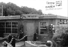 Vintage photograph of Down the Hatch front walkway and entrance