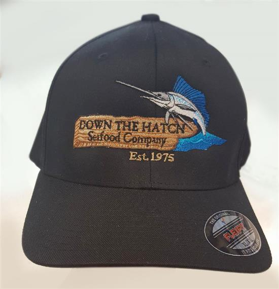 Down the hatch seafood company, established 1975 baseball cap