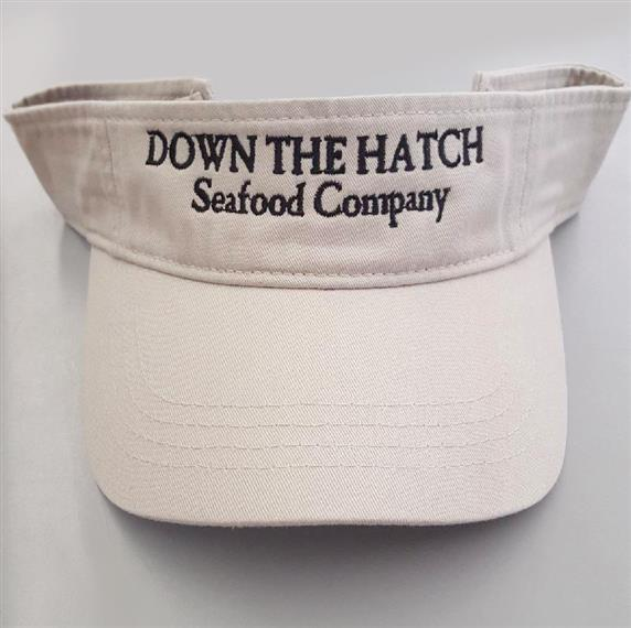 Down the hatch seafood company visor