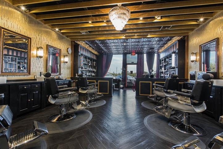 inside view of entire barber shop
