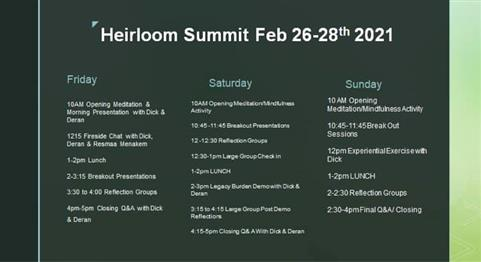 Name: Heirloom Summit Schedule Description:  Group: Product Images