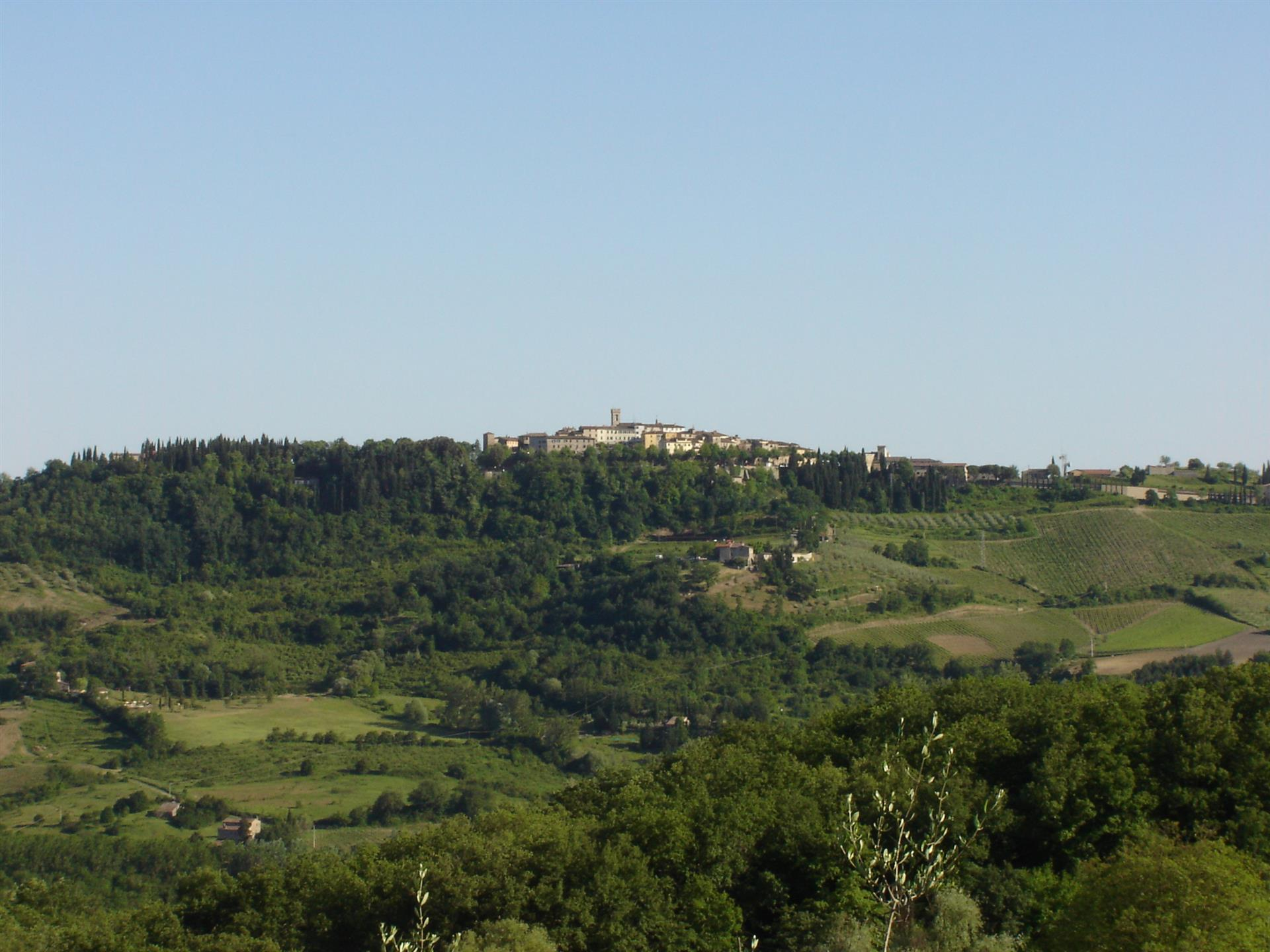 hills of the landscape of tuscany