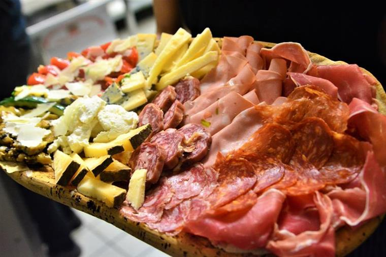 Meat and Cheese platter with various meats and cheeses