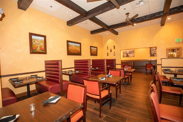 Inside view of Trattoria Toscana's dining room