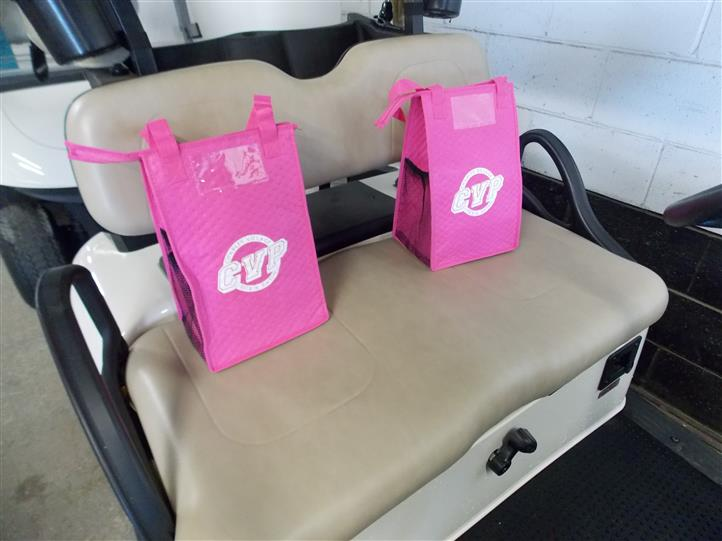 golf cart with bags from cvp