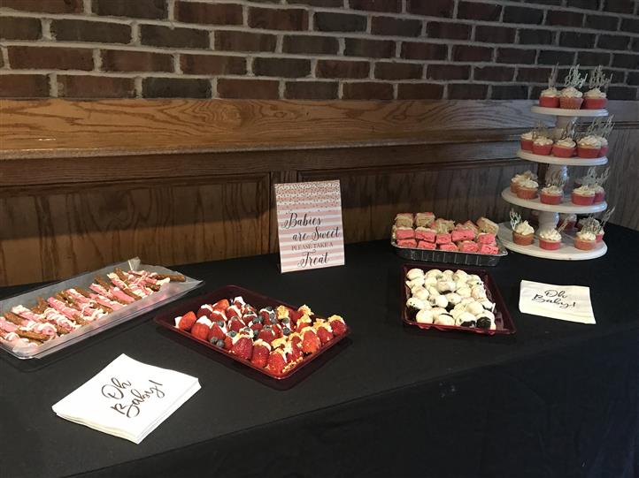 table with various desserts