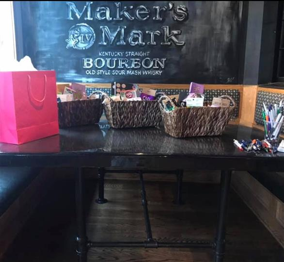 baskets on a table