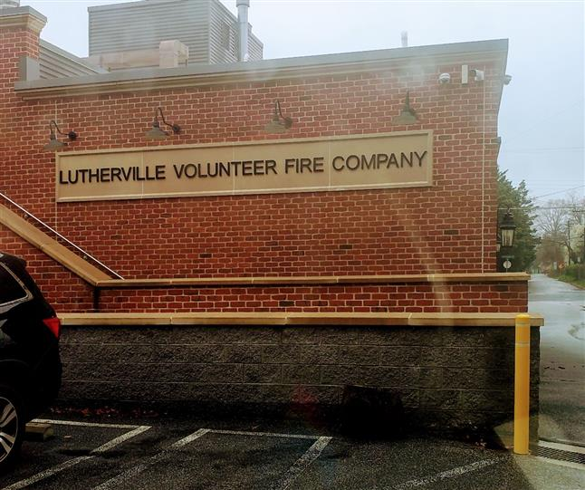 outside view of lutherville volunteer fire company