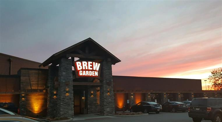 outside view of brew garden restaurant