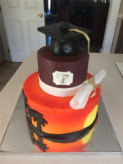 cake for a graduating senior
