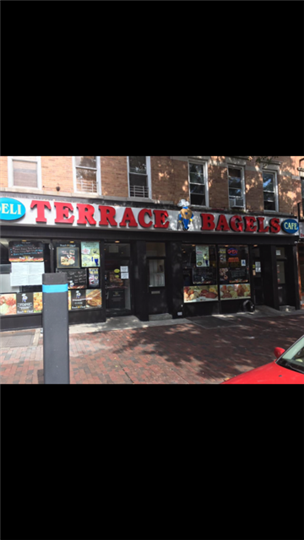 Store front of Terrace Bagels
