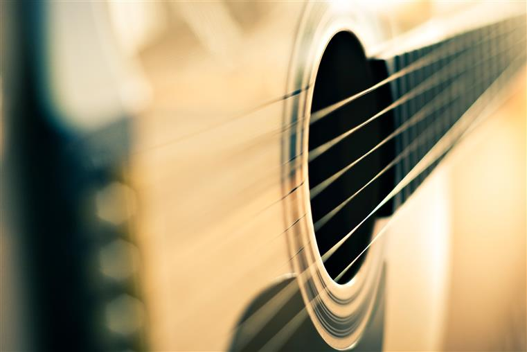 zoomed in guitar