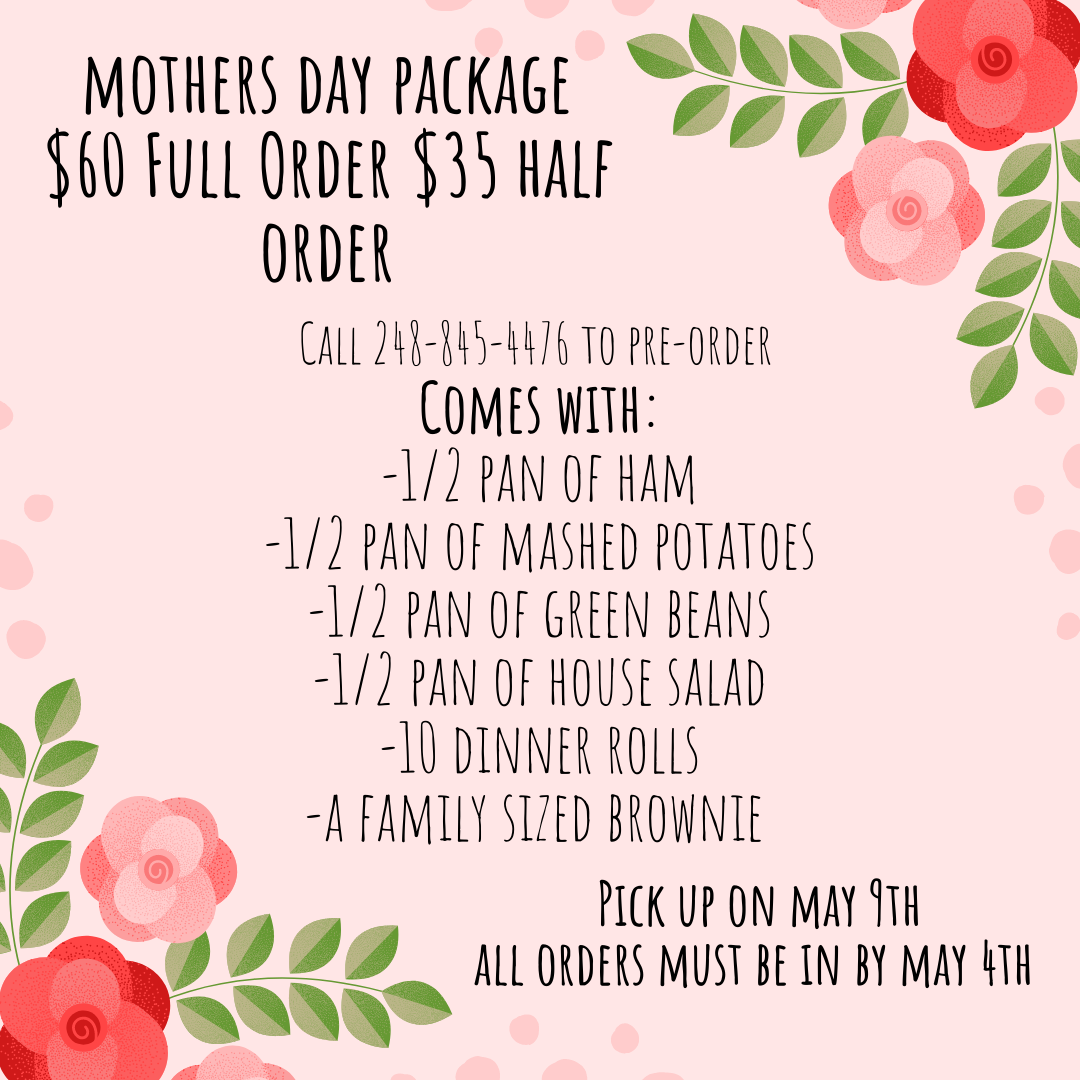 mother's day take out
