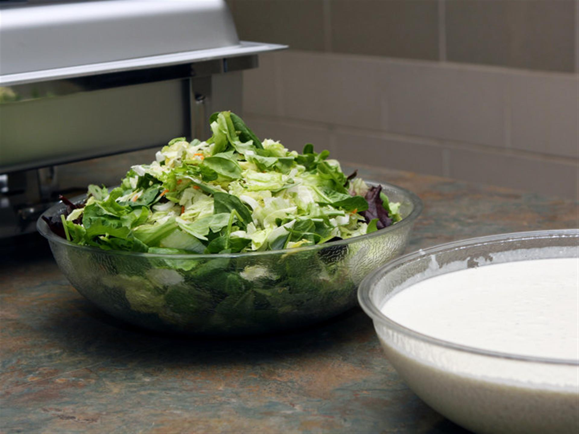 Large bowl of salad